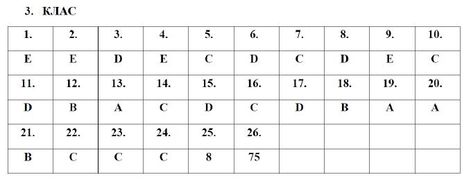 Отговори на Европейско Кенгуро 3 клас